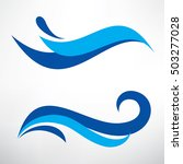 water wave set of stylized... | Shutterstock .eps vector #503277028