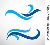 water wave set of stylized... | Shutterstock .eps vector #503277058