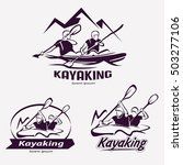 set of kayaking templates for... | Shutterstock .eps vector #503277106