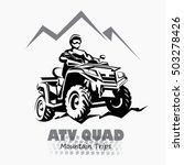 atv  quad bike stylized... | Shutterstock .eps vector #503278426