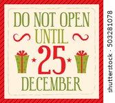 vintage christmas design card | Shutterstock .eps vector #503281078