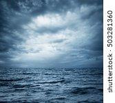 stormy sea and sky. thundery...
