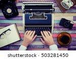 desk work retro tool | Shutterstock . vector #503281450