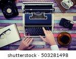 desk work retro tool | Shutterstock . vector #503281498