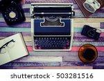 desk work retro tool | Shutterstock . vector #503281516