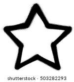 star graffiti spray icon in...   Shutterstock .eps vector #503282293