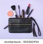 make up products spilling out... | Shutterstock . vector #503282953