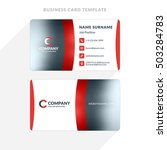 creative and clean double sided ... | Shutterstock .eps vector #503284783