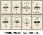 monogram creative cards... | Shutterstock .eps vector #503286346