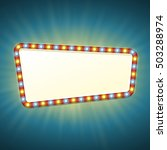 blank 3d retro light banner... | Shutterstock .eps vector #503288974