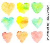 Watercolor Heart Shaped Stains...
