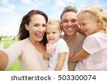 portrait of happy family with...   Shutterstock . vector #503300074