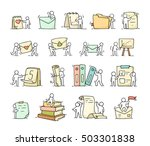 paper objects set with working... | Shutterstock .eps vector #503301838