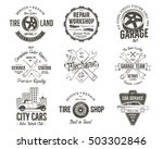 vintage car service badges ... | Shutterstock .eps vector #503302846