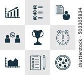 set of 9 universal editable... | Shutterstock .eps vector #503305834