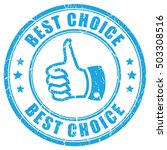 best choice thumb rubber stamp...   Shutterstock .eps vector #503308516