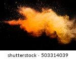 freeze motion of orange color... | Shutterstock . vector #503314039