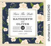 vintage save the date  wedding... | Shutterstock .eps vector #503314240