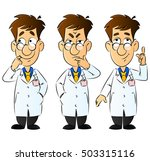 doctor  engineer  scientist or... | Shutterstock .eps vector #503315116