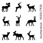 set of deer | Shutterstock .eps vector #503317930