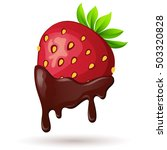 strawberry in chocolate | Shutterstock .eps vector #503320828