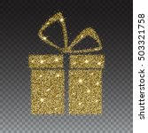 icon of gift box with gold... | Shutterstock .eps vector #503321758