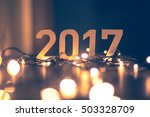 happy new year 2017  | Shutterstock . vector #503328709