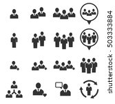 people icon   vector icon set | Shutterstock .eps vector #503333884
