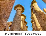 great hypostyle hall  temples... | Shutterstock . vector #503334910