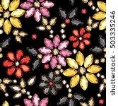seamless pattern of decorative... | Shutterstock .eps vector #503335246