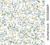 meadow flower pattern on white... | Shutterstock .eps vector #503336869