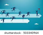 business competition. business... | Shutterstock .eps vector #503340964