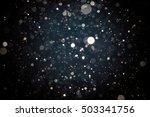 abstract blur black bokeh... | Shutterstock . vector #503341756