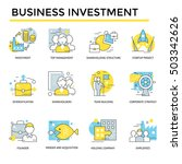 business investment concept... | Shutterstock .eps vector #503342626