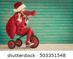 happy child rides a bike. kid... | Shutterstock . vector #503351548