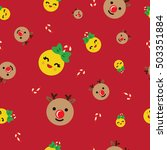 emoticon seamless pattern on... | Shutterstock .eps vector #503351884