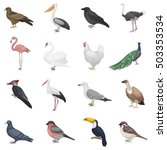 bird set icons in cartoon style.... | Shutterstock .eps vector #503353534