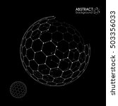vector hexagonal grid broken... | Shutterstock .eps vector #503356033