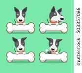 cartoon character bull terrier...   Shutterstock .eps vector #503357068