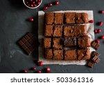Homemade Brownies With Dark...
