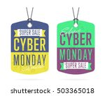 cyber monday sale tag sticker... | Shutterstock .eps vector #503365018