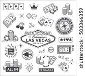 Icons Set On Gambling In Las...