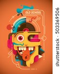conceptual illustration with... | Shutterstock .eps vector #503369506