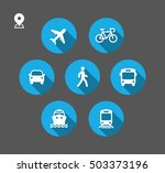 transport icons. walk man  bike ... | Shutterstock .eps vector #503373196