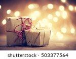 rustic retro gifts  present... | Shutterstock . vector #503377564