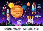 space icons composition in... | Shutterstock .eps vector #503383510