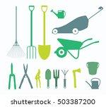 garden tools  instruments flat... | Shutterstock .eps vector #503387200