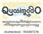 custom retro typeface quasimodo.... | Shutterstock .eps vector #503387278