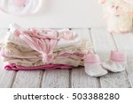 baby clothes for newborn on... | Shutterstock . vector #503388280