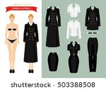 doll with paper clothes in... | Shutterstock .eps vector #503388508